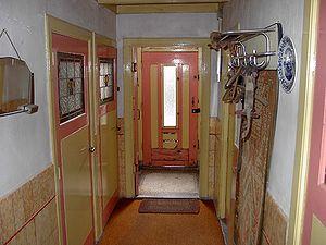96 kleurgebruik in het interieur in het woongedeelte in de 20e eeuw
